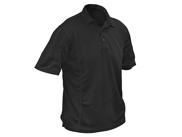 Roughneck Clothing Black Quick Dry Polo Shirt - XL (46-48in) RNKBKPOLOXL