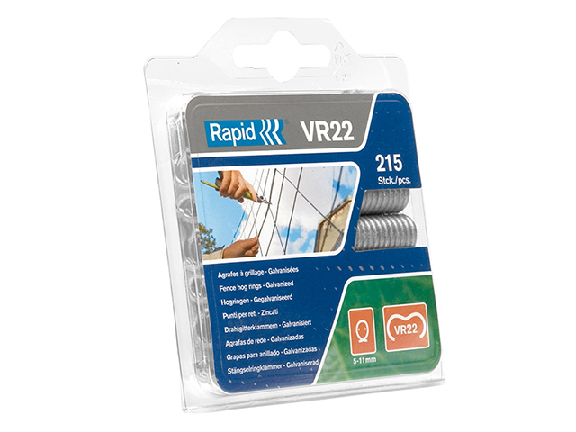 Rapid VR22 Fence Hog Rings Pack 215 Galvanised RPDVR22GA215