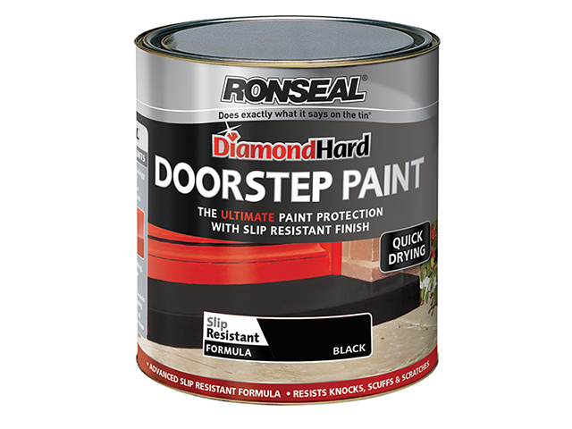 Ronseal Diamond Hard Doorstep Paint Black 250ml RSLDHDSPB250