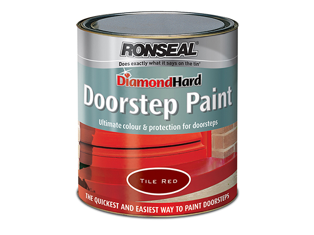 Ronseal Diamond Hard Doorstep Paint Black 750ml RSLDHDSPB750