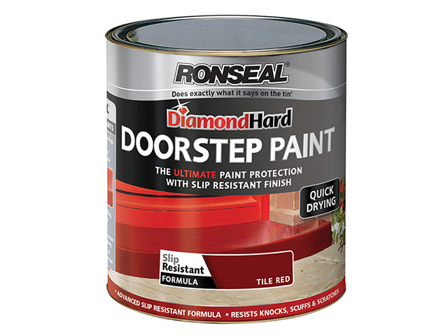 Ronseal Diamond Hard Doorstep Paint Red 250ml RSLDHDSPR250