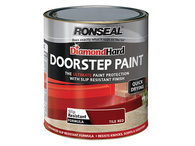 Ronseal Diamond Hard Doorstep Paint Tile Red 750ml RSLDHDSPR750