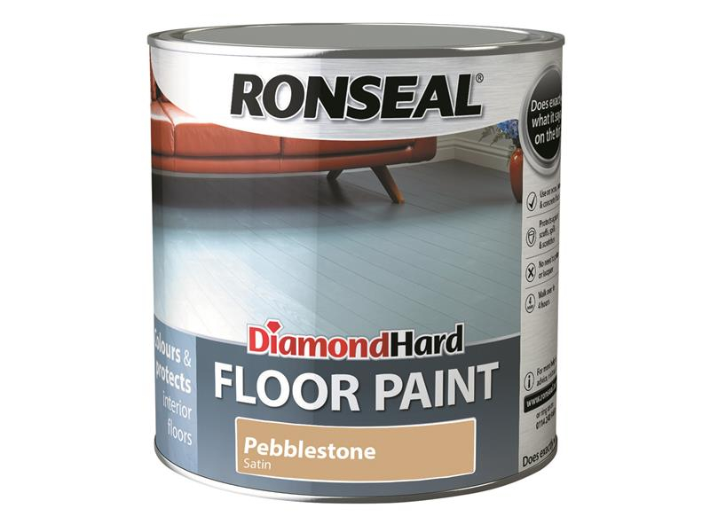 Ronseal Diamond Hard Floor Paint Pebblestone 2.5 Litre RSLDHFPPS25L