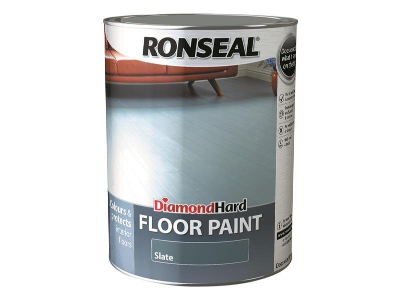Ronseal Diamond Hard Floor Paint Slate 5 Litre RSLDHFPSL5L