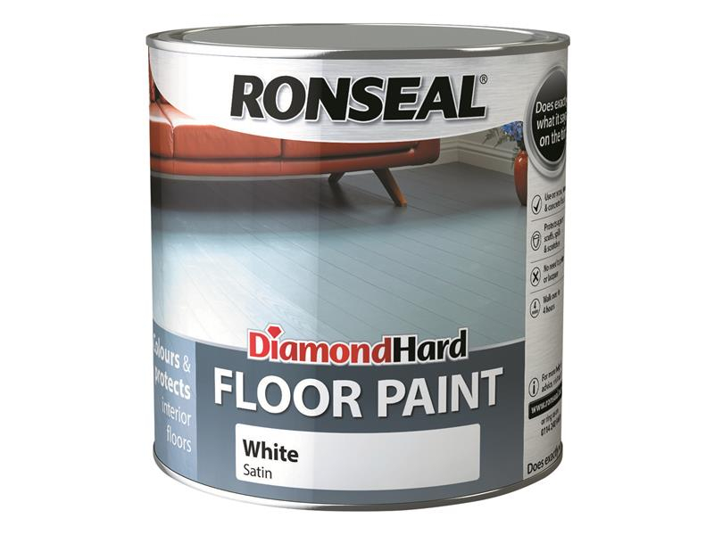Ronseal Diamond Hard Floor Paint White 2.5 Litre RSLDHFPWH25L