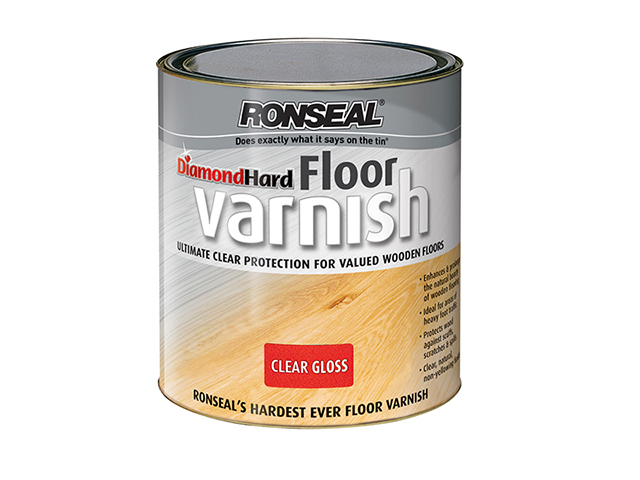 Ronseal Diamond Hard Floor Varnish Gloss 2.5 Litre RSLDHFVG25L