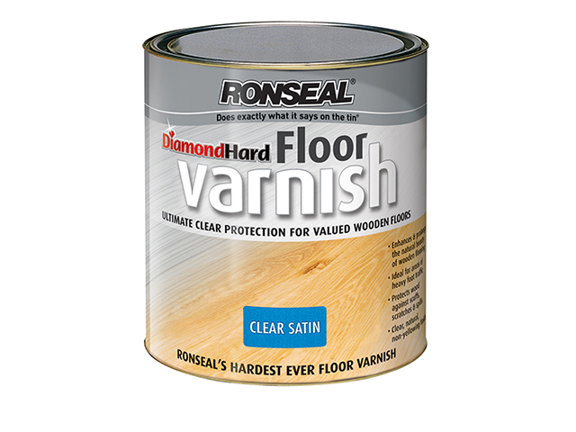 Ronseal Diamond Hard Floor Varnish Satin 2.5 Litre RSLDHFVS25L