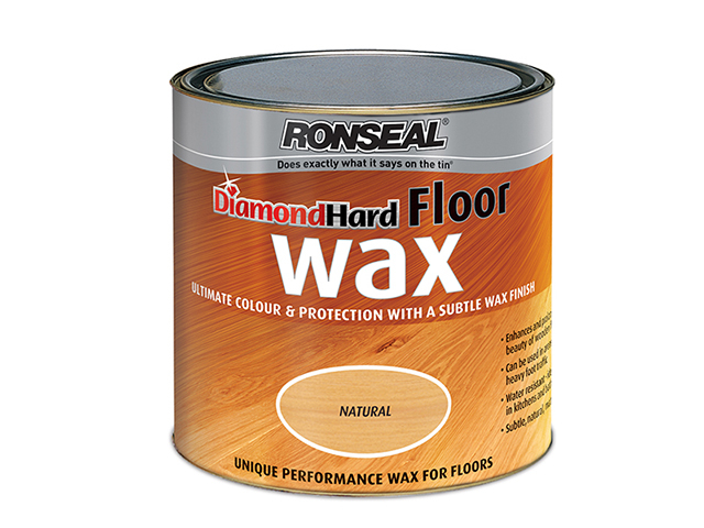 Ronseal Diamond Hard Floor Wax Natural Oak 2.5 Litre RSLDHFWNO25L