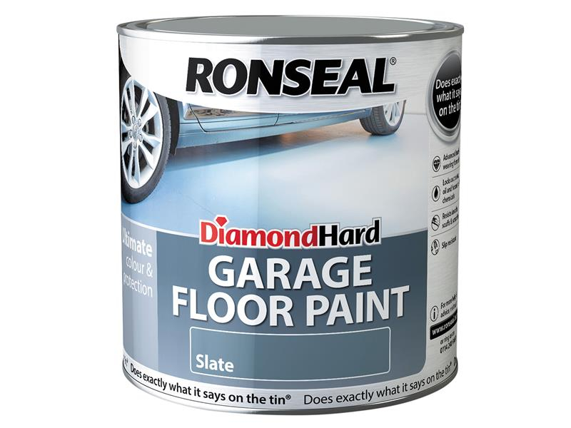 Ronseal Diamond Hard Garage Floor Paint Slate 2.5 Litre RSLDHGFPS25L