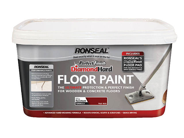 Ronseal Diamond Hard Perfect Finish Floor Paint White 2.5 Litre RSLDHPFFPW25