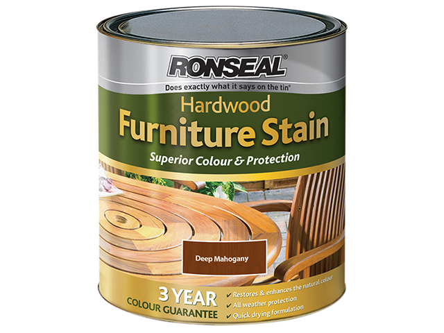 Ronseal Ultimate Protection Hardwood Garden Furniture Stain Deep Mahogany 750ml RSLHWFSDM750