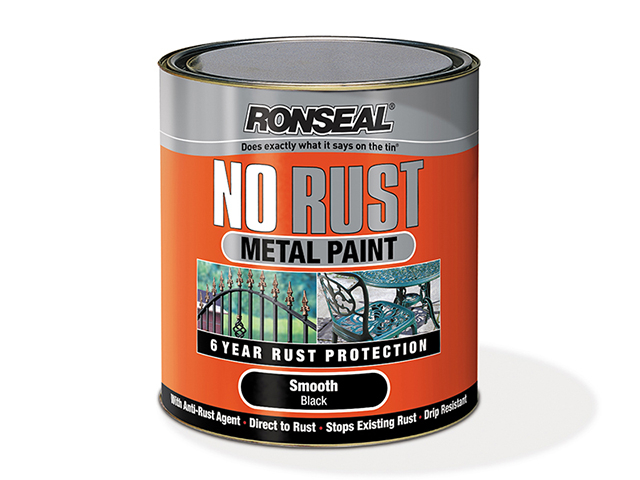 Ronseal No Rust Metal Paint Smooth White 2.5 Litre RSLNRSMWH25L
