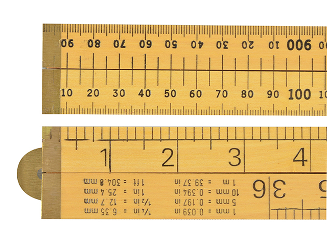 R.S.T. Wooden 4 Fold Rule 1m / 39in (Loose) RST073