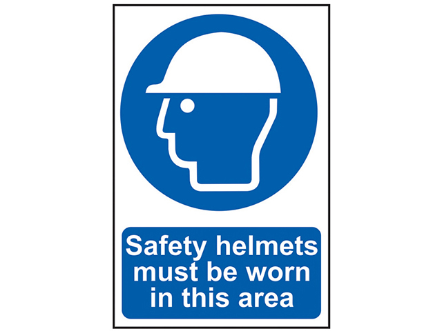 Scan Safety Helmets Must Be Worn In This Area - PVC 200 x 300mm SCA0002