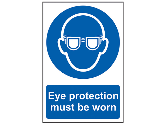 Scan Eye Protection Must Be Worn - PVC 200 x 300mm SCA0007