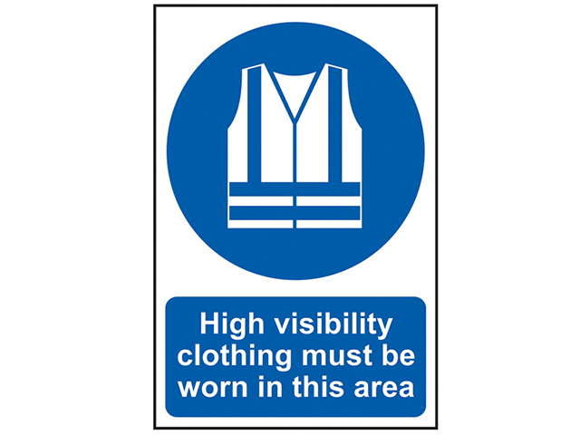 Scan High Visibility Jackets Must Be Worn In This Area - PVC 200 x 300mm SCA0022