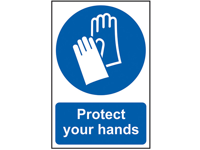 Scan Protect Your Hands - PVC 200 x 300mm SCA0023