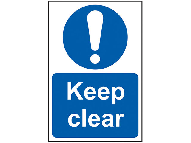Scan Keep Clear - PVC 200 x 300mm SCA0253