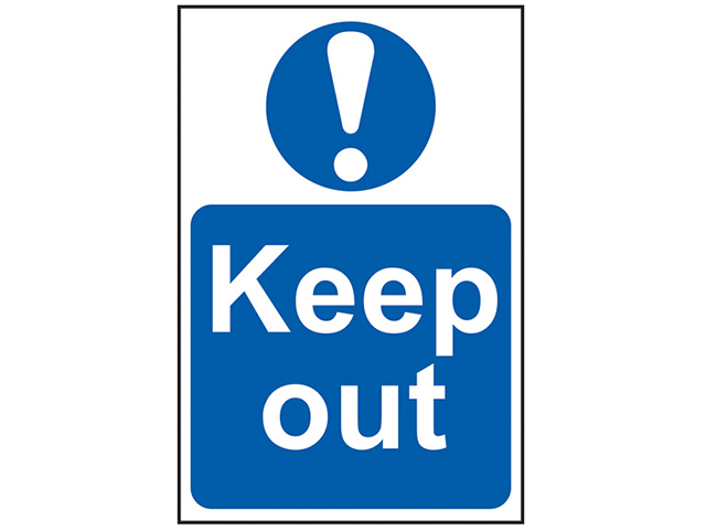 Scan Keep Out - PVC 200 x 300mm SCA0255