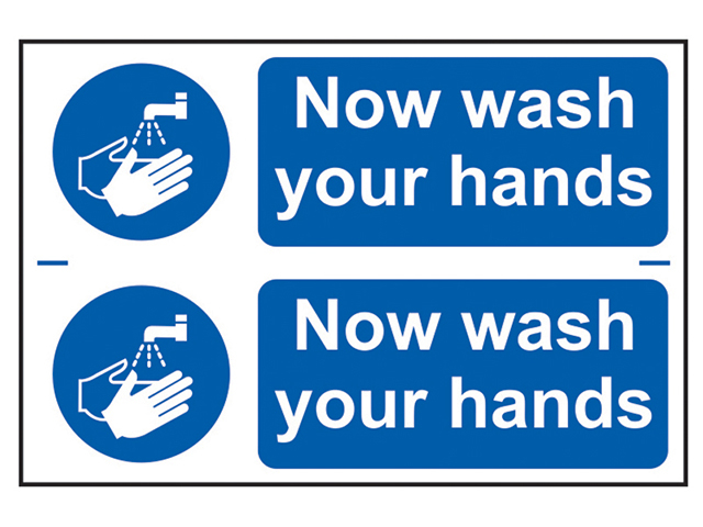 Scan Now Wash Your Hands - PVC 300 x 200mm SCA0404