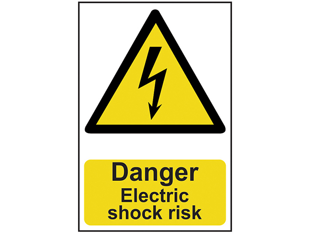 Scan Danger Electric Shock Risk - PVC 200 x 300mm SCA0750