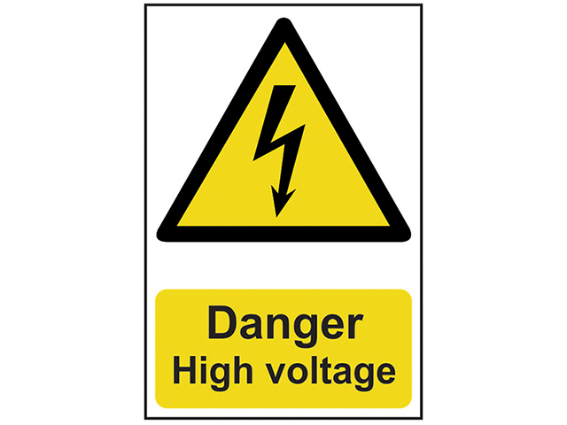 Scan Danger High Voltage - PVC 200 x 300mm SCA0761