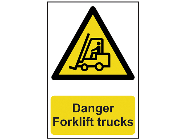 Scan Danger Forklift Trucks - PVC 200 x 300mm SCA0954