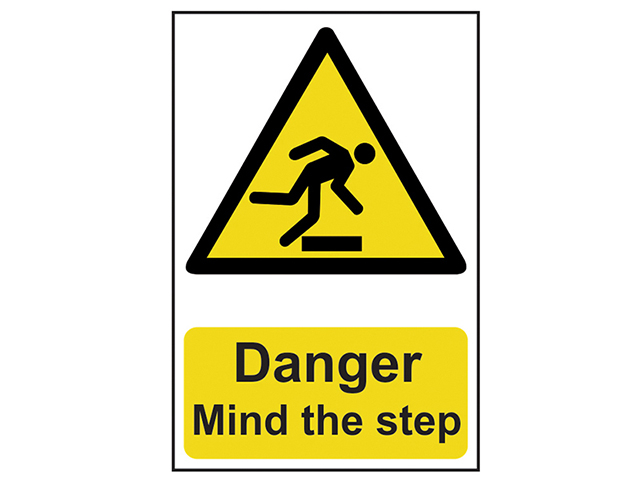 Scan Danger Mind The Step - PVC 200 x 300mm SCA1105