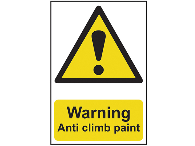 Scan Warning Anti Climb Paint - PVC 200 x 300mm SCA1113