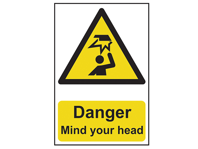 Scan Danger Mind Your Head - PVC 200 x 300mm SCA1150