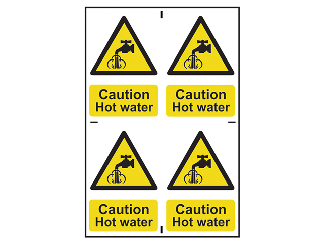 Scan Caution Hot Water - PVC 200 x 300mm SCA1309
