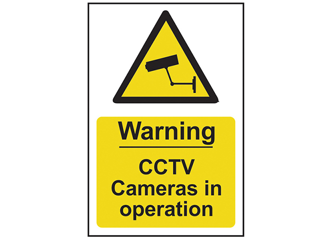 Scan Warning CCTV Cameras in Operation - PVC 200 x 300mm SCA1311