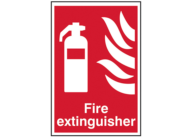 Scan Fire Extinguisher - PVC 200 x 300mm SCA1350