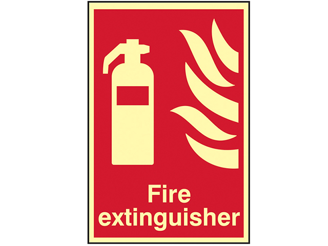 Scan Fire Extinguisher Photoluminescent - 200 x 300mm SCA1571