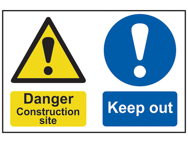 Scan Danger Construction Site Keep Out - PVC 600 x 400mm SCA4005