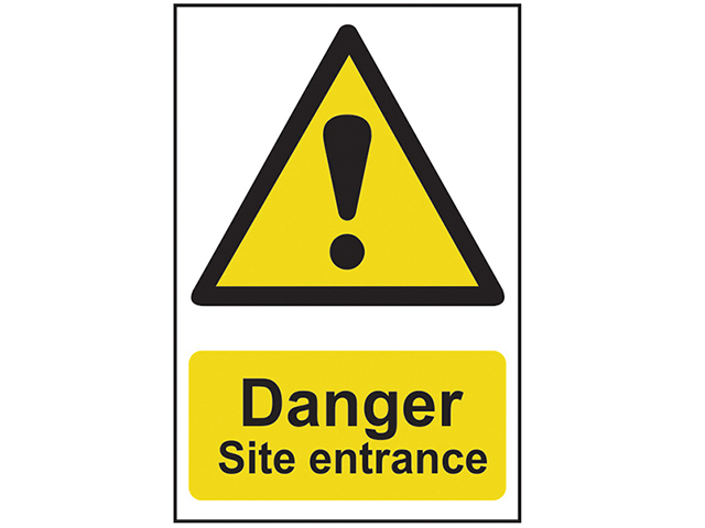Scan Danger Site Entrance - PVC 400 x 600mm SCA4102