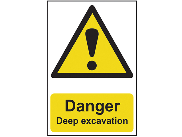 Scan Danger Deep Excavation - PVC 400 x 600mm SCA4103