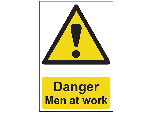 Scan Danger Men At Work - PVC 400 x 600mm SCA4104