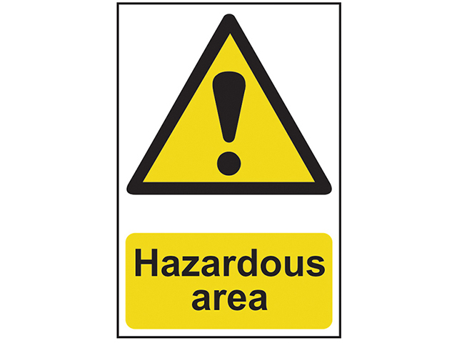 Scan Hazardous Area - PVC 400 x 600mm SCA4107
