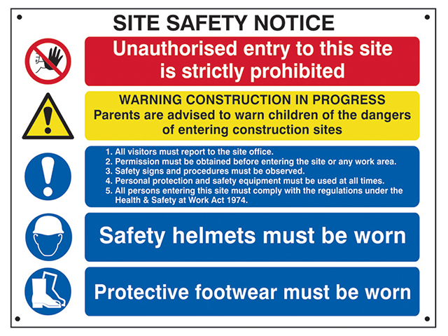 Scan Composite Site Safety Notice - FMX 800 x 600mm SCA4550