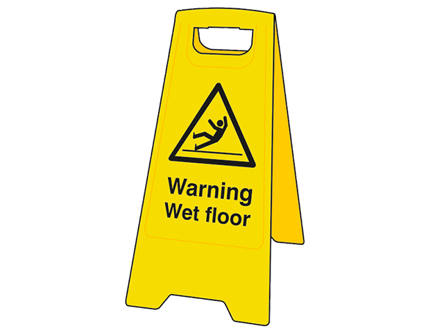 Scan Heavy-Duty 'A' Board: Warning Wet Floor SCA4702