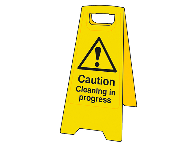 Scan Heavy-Duty 'A' Board: Caution Cleaning In Progress SCA4703