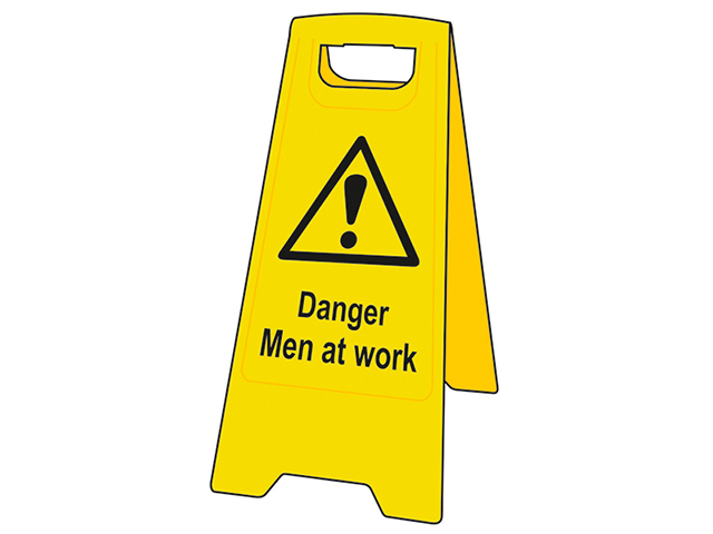 Scan Heavy-Duty 'A' Board: Danger Men At Work SCA4710