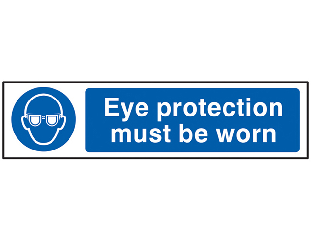 Scan Eye Protection Must Be Worn - PVC 200 x 50mm SCA5001
