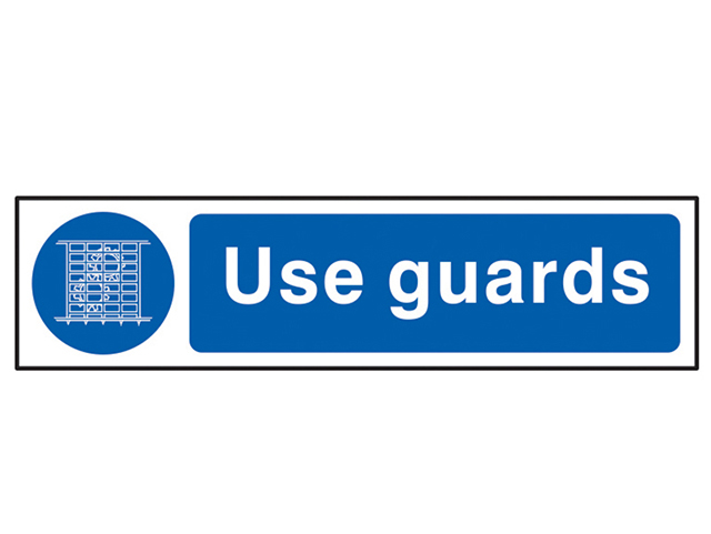 Scan Use Guards - PVC 200 x 50mm SCA5003