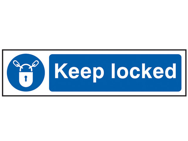 Scan Keep Locked - PVC 200 x 50mm SCA5011