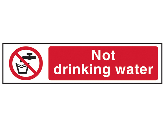Scan Not Drinking Water - PVC 200 x 50mm SCA5051
