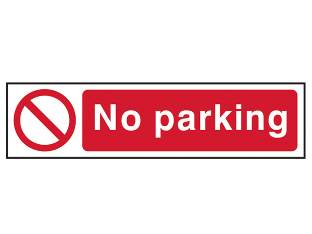 Scan No Parking - PVC 200 x 50mm SCA5056