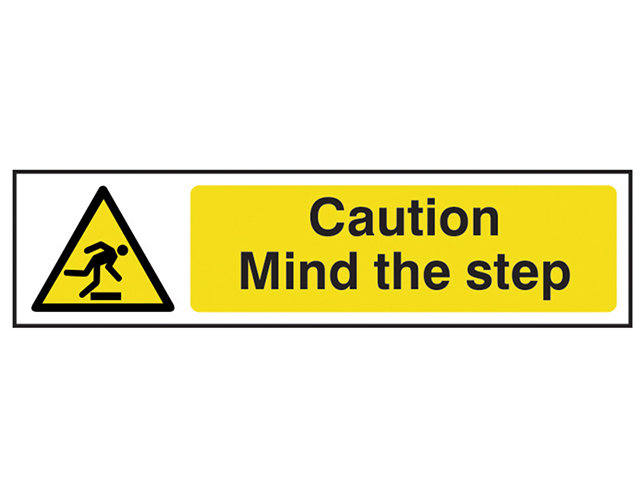 Scan Caution Mind The Step - PVC 200 x 50mm SCA5109