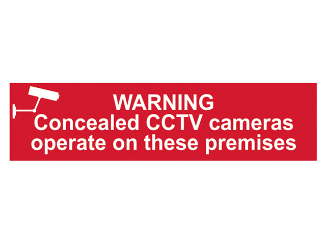 Scan Warning Concealed CCTV Cameras Operate On These Premises - PVC 200 x 50mm SCA5254